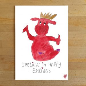 I believe in happy endings (10x15cm)